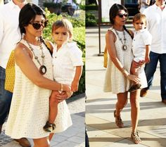 I have a strange obsession with the Kardashians... Kourtney is my favourite! Her style is so cute, fun & young! Mason is a little fashionista too... adorable!!!! (LOVE her dress)