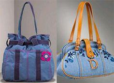 trendy denim handbags
