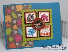 FUn Fall Card, Stampin Up. By Shirley Pumpkin