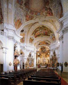Johann Dientzenhofer. Banz - Interior de la abadía benedictina