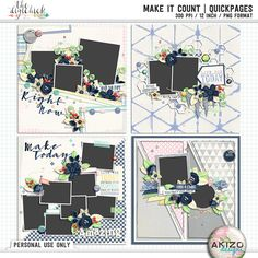 Make It Count   Quickpages by Akizo Designs - For Digital Scrapbooking Page