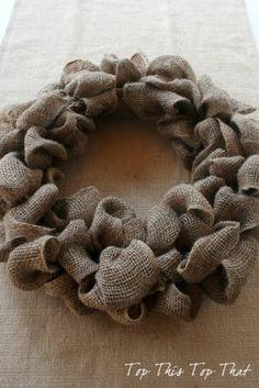 diy burlap wreath by KLowry