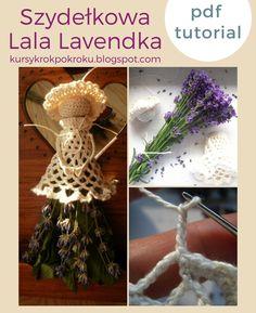 Kursy krok po kroku - rękodzieło: Szydełkowa lala Lavendka - krok po kroku