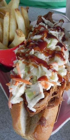 The Barbeque Slaw Dog from Casey's Corner in Magic Kingdom! Click to read the review #disneydining