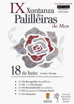 IX XUNTANZA DE PALILLEIRAS EN MOS Nueva edición de la Xuntanza de Palilleiras que tendrá lugar el sábado 18 de Junio en el parque de Costoias, en la parroquia de Tameiga del municipio de Mos.