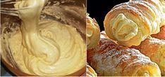 """Tieto """"univerzálne"""" krémy zo žĺtka miluje skoro každý. Bežne sa používa v šamrolách , trubičkách, v konbinácii s inými krémami ako základ. Czech Recipes, Pavlova, Christmas Baking, Nutella, Sweet Recipes, Peanut Butter, Sweet Tooth, Deserts, Good Food"""