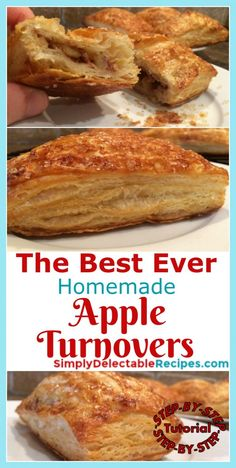Best Apple Turnover Recipe Made With Homemade Puff Pastry(includes tutorial!) – Mama's Real Meals Best Apple Turnover Recipe Made With Homemade Puff Pastry(includes tutorial!) – Mama's Real Meals,Sweets Want a deliciously flaky apple turnover? Puff Pastry Desserts, Tasty Pastry, Flaky Pastry, Köstliche Desserts, Dessert Recipes, Savory Pastry, Choux Pastry, Plated Desserts, Puff Pastries