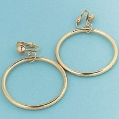 Gold Hoop Clip On Earrings (1 dz) by Fun Express. $5.97. A fun costume accessory. These gold toned clip on earrings can be given away as party favors. Great for dress up for tea parties, pirate parties, diva parties and more!