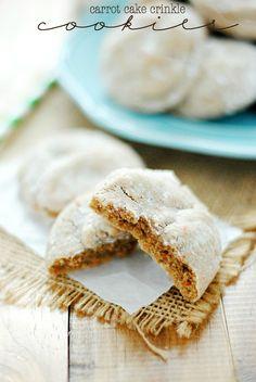 Carrot Cake Crinkle Cookies