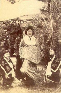 tayuu + kamuro (child attendant for an Oiran or Tayuu)