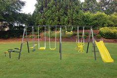 XDP Recreation Rising Sun Metal Swing Set | from hayneedle.com