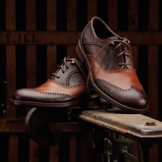 Made for the everyday gentleman, the Thatcher reinvents the refined style of the classic mens wingtip for the modern working man. The perforated wing tip design is highlighted with Horween® Rowdy Leather upper, the distinctive details and weathered leathers lend to the authentic design. The Thatcher is hand-crafted and features a leather sheepskin lining, with a leather and rubber outsole with Goodyear™ Welt construction for flexible durability.