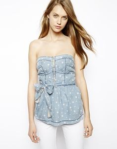 Hilfiger Denim Spot Strapless Top
