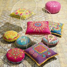 Embroidered Gypsy Caravan Cushions from grahamandgreen.co.uk