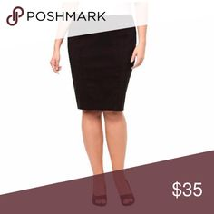 Torrid Black Pencil Skirt with Slit Back Size 18 Excellent used condition, only worn once! From a smoke and pet free home. No trades, please. torrid Skirts Pencil