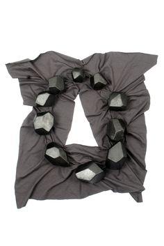 Pia Farrugia - CONCRETIONS 02 -   necklace : cotton, epoxy | piafarrugia.ch  - TALENTE 2015