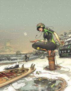Folio illustration agency, London, UK | Gez Fry   Manga ∙ Anime...