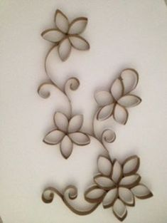 nice 45 DIY Paper Roll Wall Art to Beautify Your Home http://godiygo.com/2017/11/14/45-diy-paper-roll-wall-art-beautify-home/