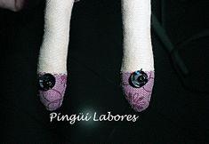 El blog de las labores de Pingüi: Tutorial Angel Vintage Tilda I