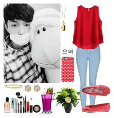 """""""#396: EXO - Heaven (Lay)"""" by exoo ❤ liked on Polyvore featuring Topshop, Avery, Monica Rich Kosann, Giorgio Armani, Kate Spade, Lord & Berry, Stila and Jamie Wolf"""