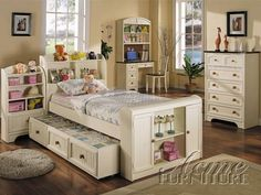 White Full Storage Bed With Headboard, Footboard and Rails by Acme Furniture Bayside Collection 491-4030F