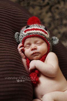 A little sock monkey hat.. Too cute!