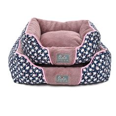 Elite Star Pattern Pet Bed with Canvas Anti-wear Fabric Removable Cover for Dogs and Cats, Purple * Click image for more details. (This is an affiliate link and I receive a commission for the sales)