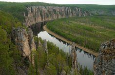 Республика Саха Якутия, лето, река, зелень, сплав, Россия, Фото, пейзаж, длиннопост