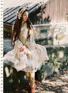 My collection of mori and woodland inspired images. As well as some of my own forest girl inspired. Mori Girl Fashion, Lolita Fashion, Gypsy Fashion, Alternative Mode, Alternative Fashion, Japanese Street Fashion, Asian Fashion, Mode Mori, Lolita Mode