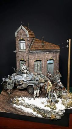 German troops with armored car Armored Vehicles, Armored Car, Asian House, Model Tanks, Ardennes, Military Modelling, Military Diorama, Custom Action Figures, Red Army