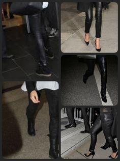 Beste leren legging ooit! Deze strakke stretch leren broek zit geweldig op ieder lijf en voor iedere gelegenheid. Te dragen met high heels, wedges, boots of ...  De 'schoen' laat zien waar je naar toe gaat.....de broek kan overal heen