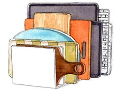 File sorters sort backing sheets and cutting boards  Organizing Ideas - Home Organization Ideas - Redbook