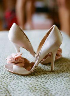 blush pink heels by Badgley Mischka #shoes