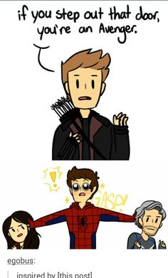 "Ha! How Age of Ultron should end<<< I feel like he'd get all sassy and say ""Step aside peasants."""