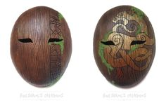 Celtic and Runic Wood Masks by Bueshang
