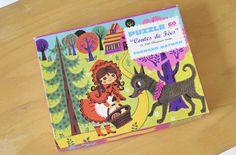 Puzzle sur le thème du Chaperon Rouge avec les illustrations de Nina. Marque Fernand Nathan  leshappyvintage.fr