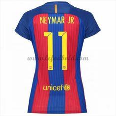 Billige Fodbold Trøjer Barcelona Dame 2016-17 Neymar Jr 11 Kortærmet Hjemme Trøjer
