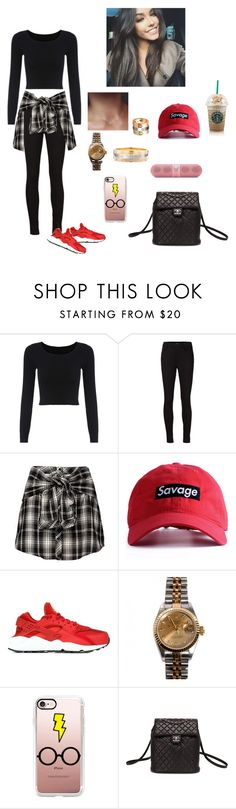 """""""Gonna make a move"""" by mariaxl ❤ liked on Polyvore featuring J Brand, NIKE, Rolex, Casetify, Chanel and Beats by Dr. Dre"""