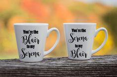 Best Friend Coffee Mug Pair  Gossip Girl Mug  Blair and