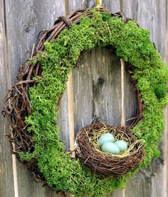 Mossy Woodland Nest Wreath by LovesGarden on Etsy, $28.00