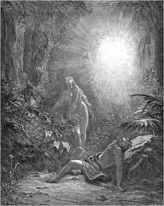 God creates Eve from Adam's rib. ―Genesis 2 Gustave Doré: The Bible Illustrations http://www.danshort.com/bible/page1.php?p=2