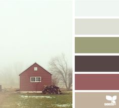 thanksgiving tones . . . love the softness of these shades, and the foggy inspiration photo!