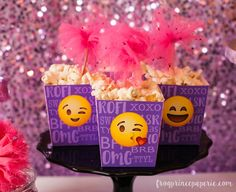 Need a tween birthday party theme? These Glam Emoji Birthday Party ideas are a must-see. Full of sparkle and smiles, they're going to be tween-pleasers!