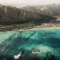Morning helicopter flights above one of my most favorite beaches Waimanalo. Light blue water and a long white sand beach. Go check it out if you haven't been before. by threeifbysea