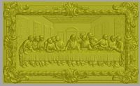 3d model for cnc in STL file format Picture STL_856 Lord-s Supper