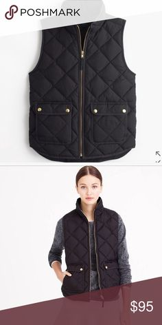 J.Crew Excursion Quilted Vest Black Large Great Vest, Only worn twice just too big for me but I LOVE this vest. Perfect condition. J. Crew Jackets & Coats Vests