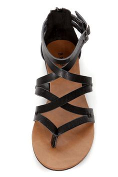 bamboo laguna 25 black strappy gladiator sandals