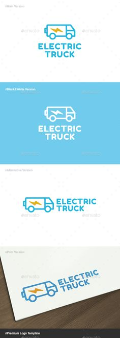 Electric Truck Logo — Vector EPS #identity #electrical • Available here → https://graphicriver.net/item/electric-truck-logo/14788612?ref=pxcr