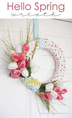 Really nice recipes. Every hour. • DIY Spring Wreath Really nice recipes. Every hour....
