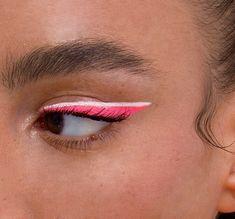 cool eye makeup with bubble gum pink and white eyeliner, pink eyeliner makeup Makeup Trends, Makeup Inspo, Makeup Inspiration, Makeup Ideas, Makeup Tutorials, Body Inspiration, Makeup Tips, Eye Makeup, Makeup Art